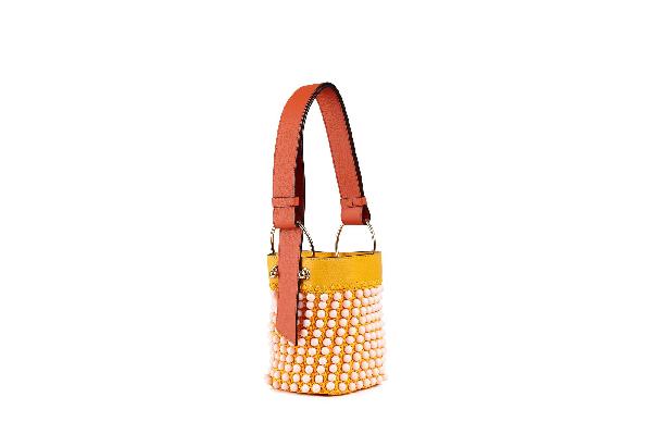 Ss20 Lana Nano Bucket In Beaded Blossom Yellow/maple/soft Pink