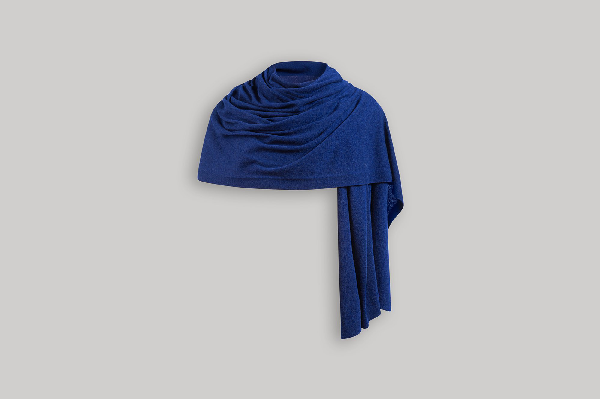 Ss20 Cashmere Travel Wrap In Cobalt