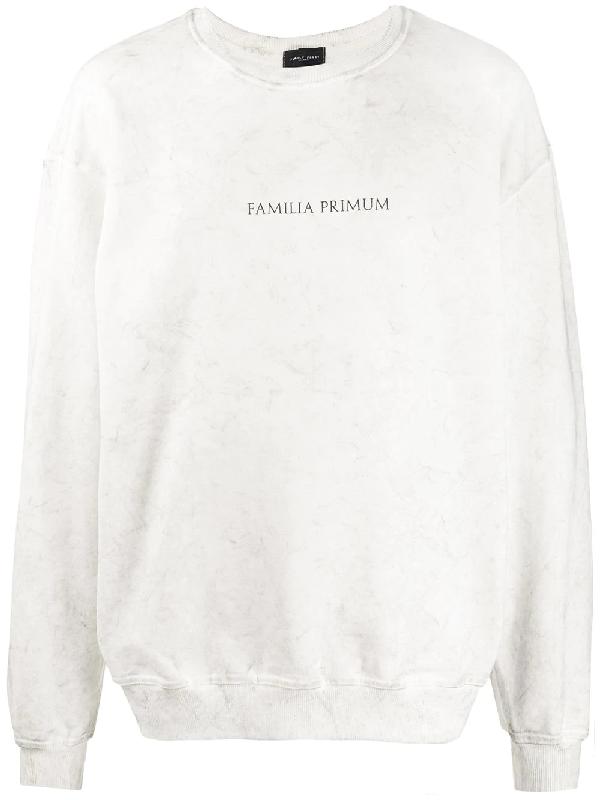Family First Logo Print Sweatshirt In White