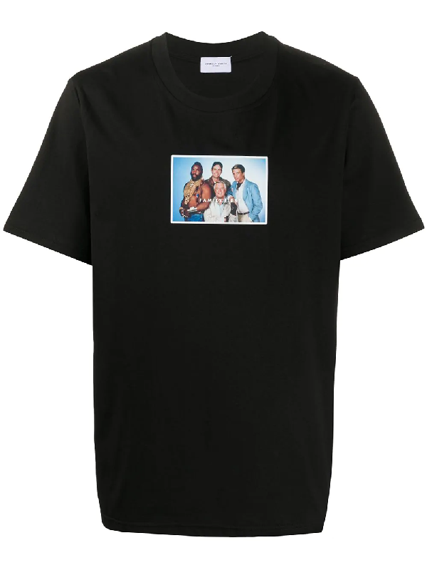 Family First The A-team Print T-shirt In Black