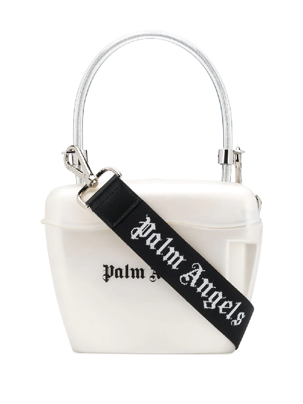 Palm Angels Combination Top-handle Bag In White