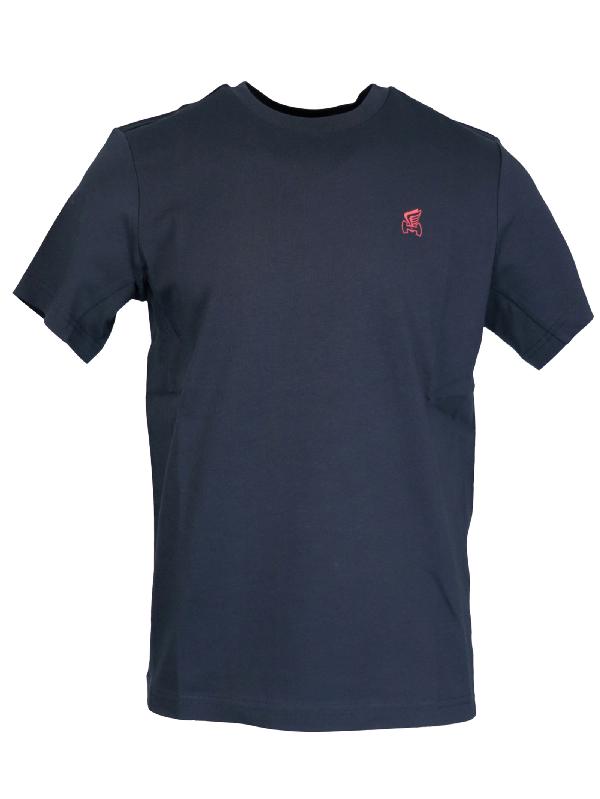 Hogan Cotton Logo T-shirt In Navy