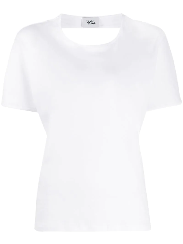Vejas Open-back Cotton T-shirt In White