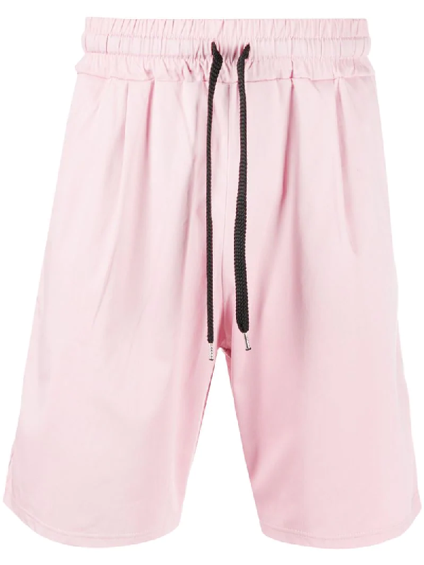 Family First Stretch-cotton Track Shorts In Pink