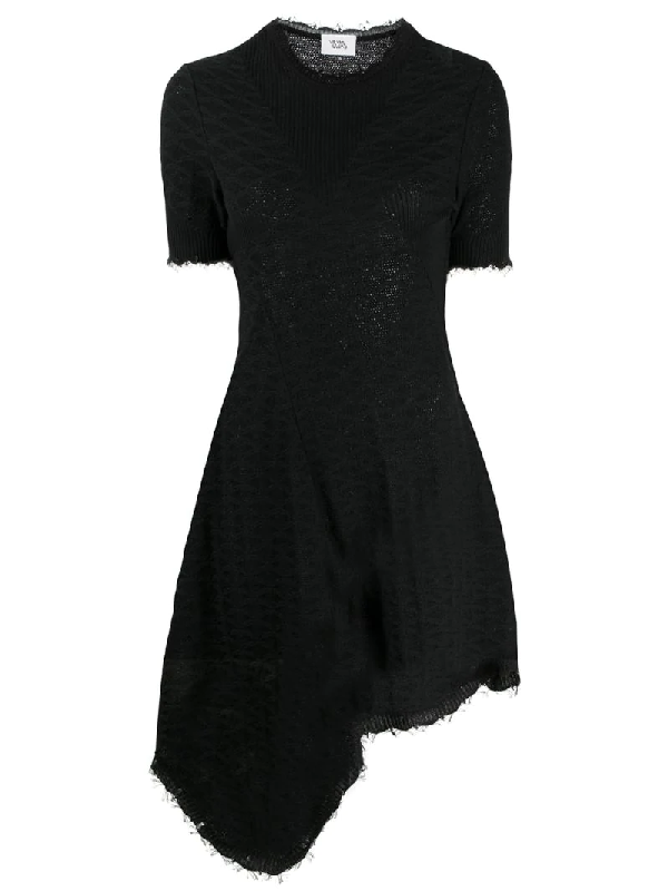 Vejas Knitted Asymmetrical Dress In Black