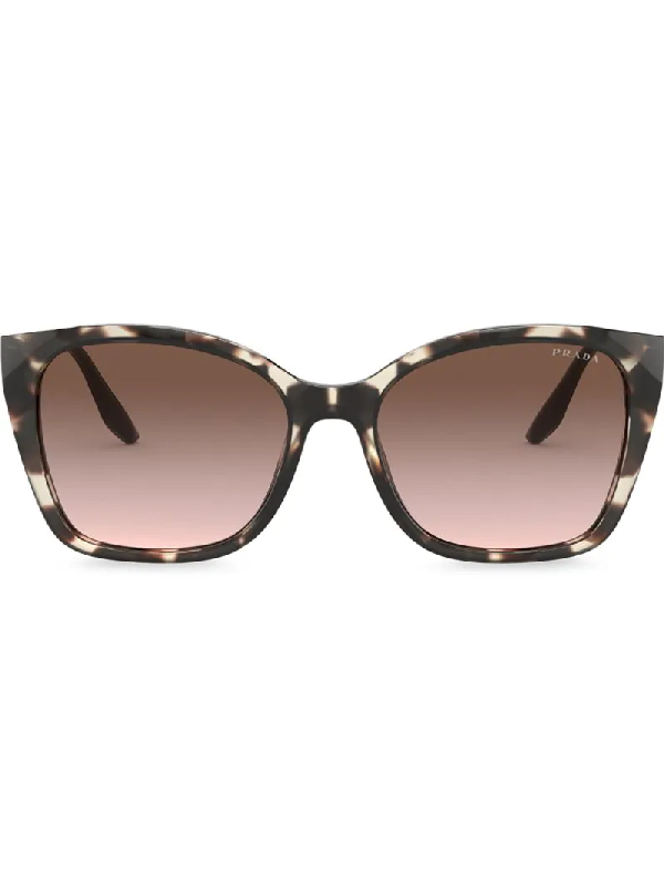Prada Square-frame Gradient Sunglasses In Brown