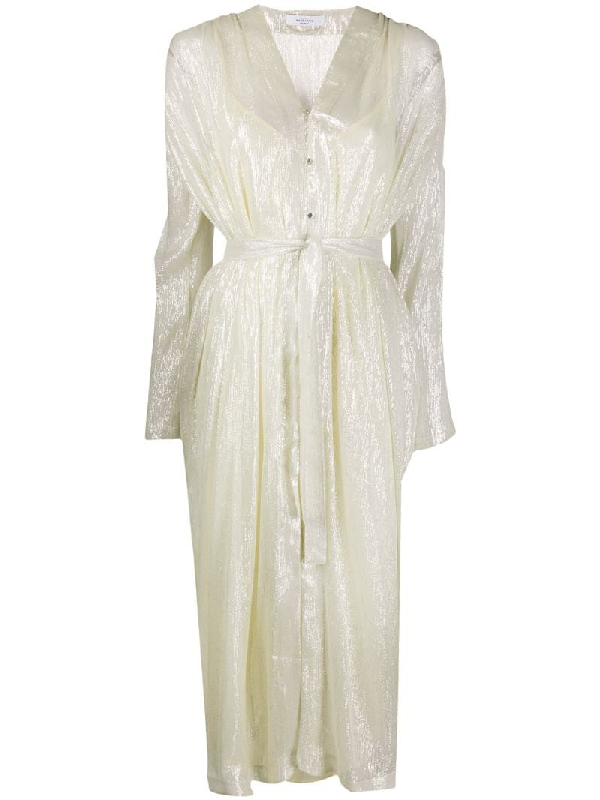 Roseanna Facette Mercy Lurex Dress In White