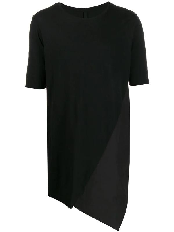 Army Of Me Longline Bias Cut T-shirt In Black