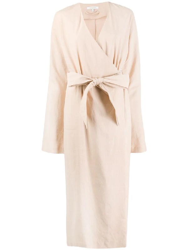 La Collection Waist-tied Trench Coat In Neutrals