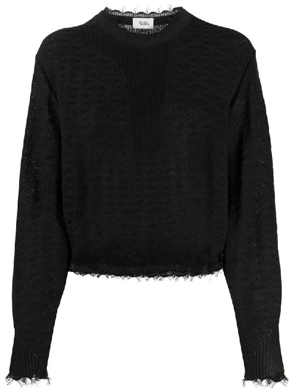 Vejas Pullover Mit Distressed-detail In Black