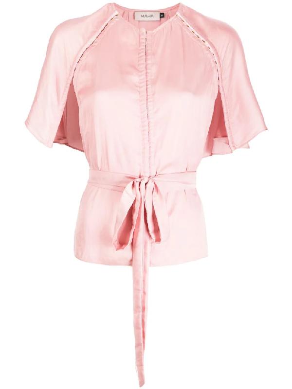 Murmur Capelet-style Top In Pink
