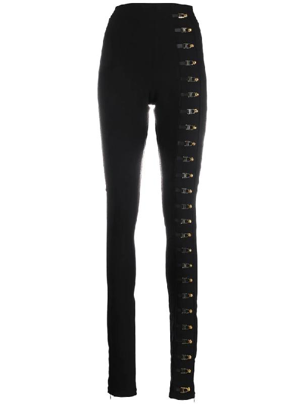 Murmur Eyelet-embellished Trousers In Black