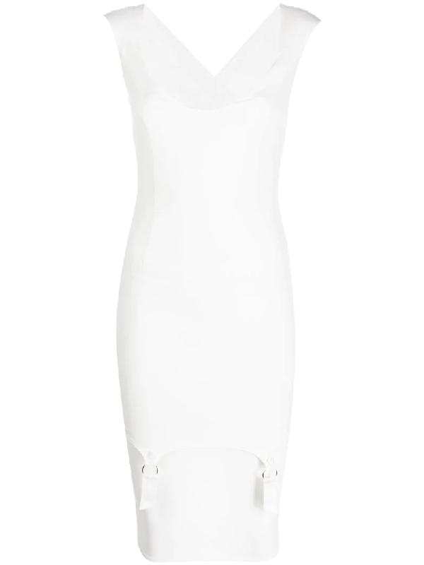 Murmur Fitted Dress In White