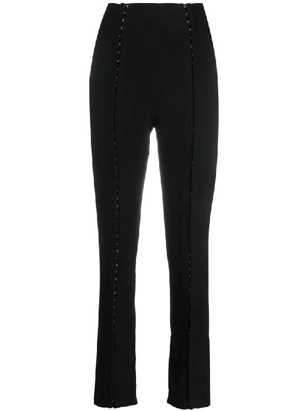 Murmur Panelled Slim-fit Trousers In Black