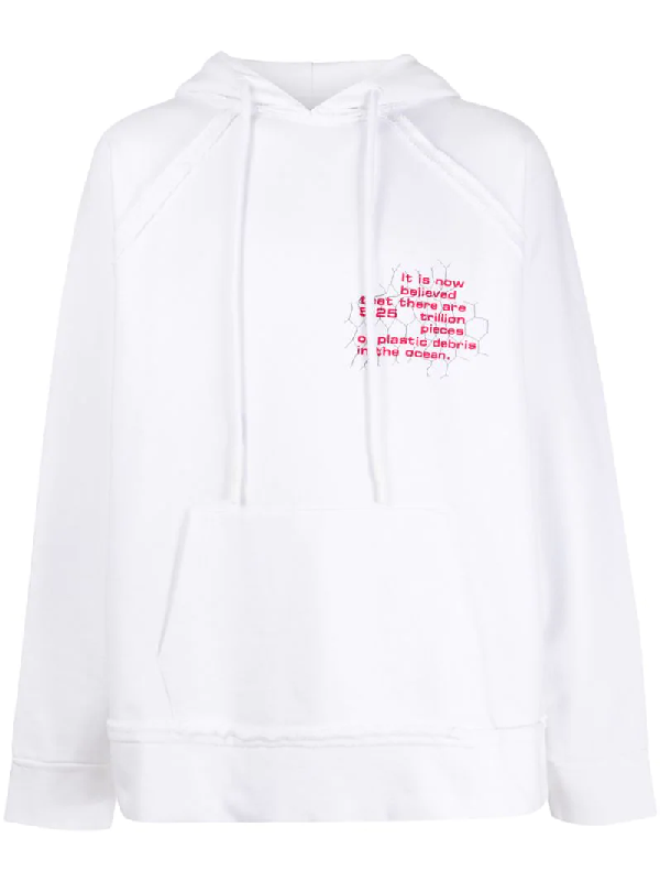 Off-white Graphic Print Hoodie In White