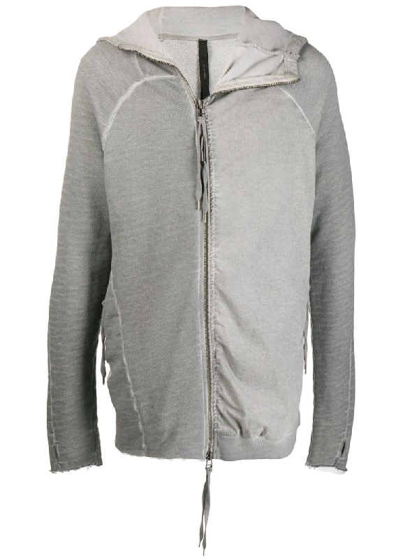 Army Of Me Contrast Panel Hoodie In Grey