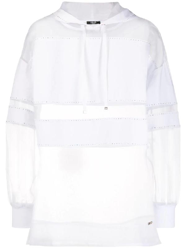 Liu •jo Sweatshirt Mit Kapuze In White