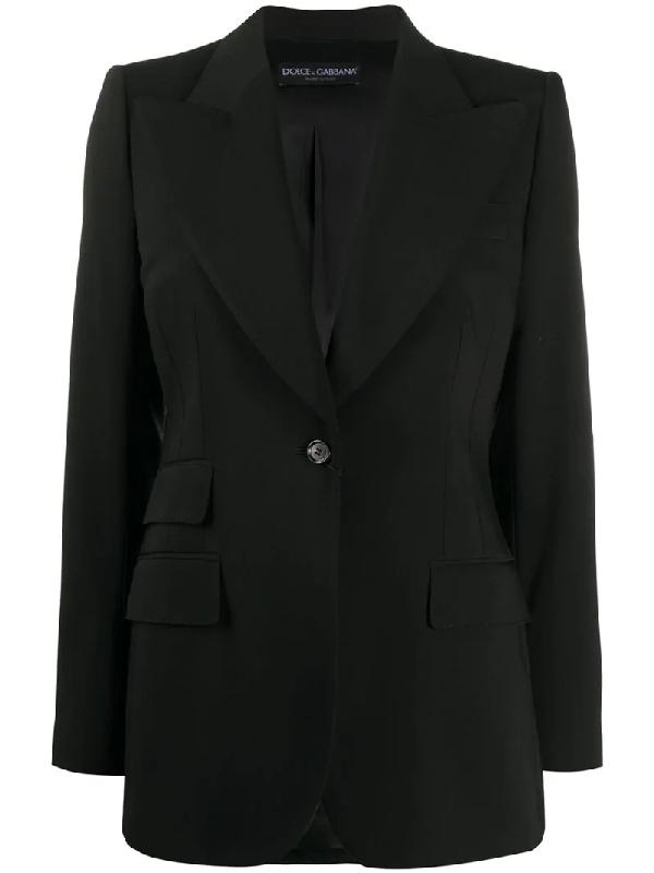 Dolce & Gabbana Single-breasted Blazer In Black