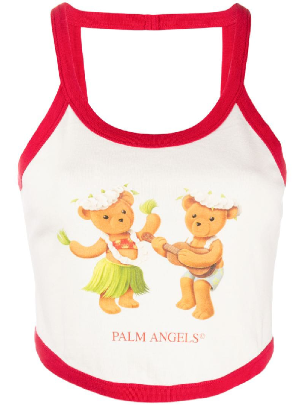 Palm Angels Dancing Bears Top In White