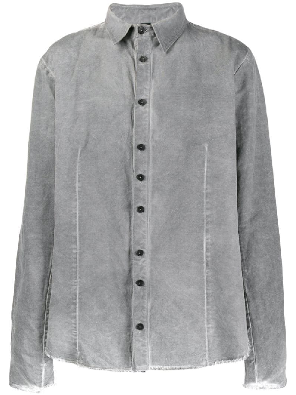 Army Of Me Faded Effect Relaxed Fit Shirt In Grey