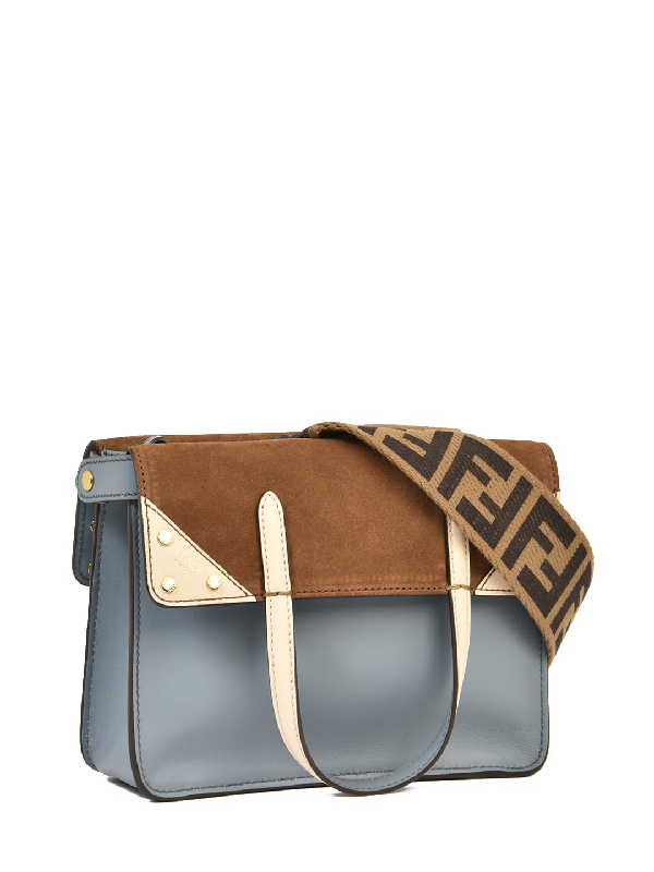 Fendi Mini Flip Bag Light Blue In A-merl+marr+camel+os