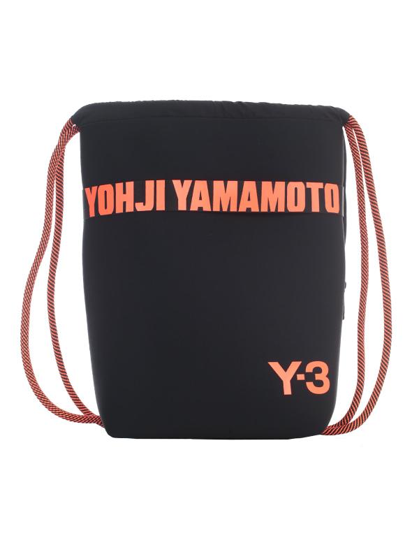 Y-3 Drawstring Beach Bag In Black