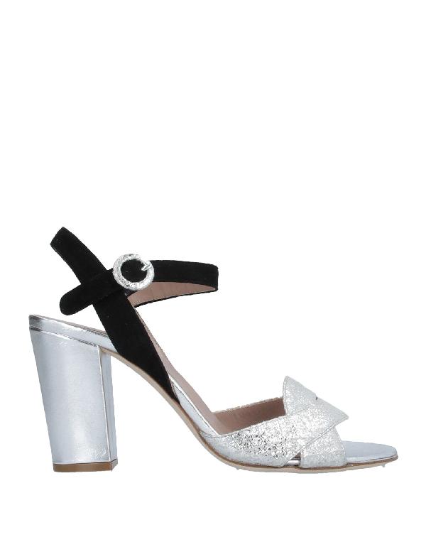 Cheville Sandals In Silver