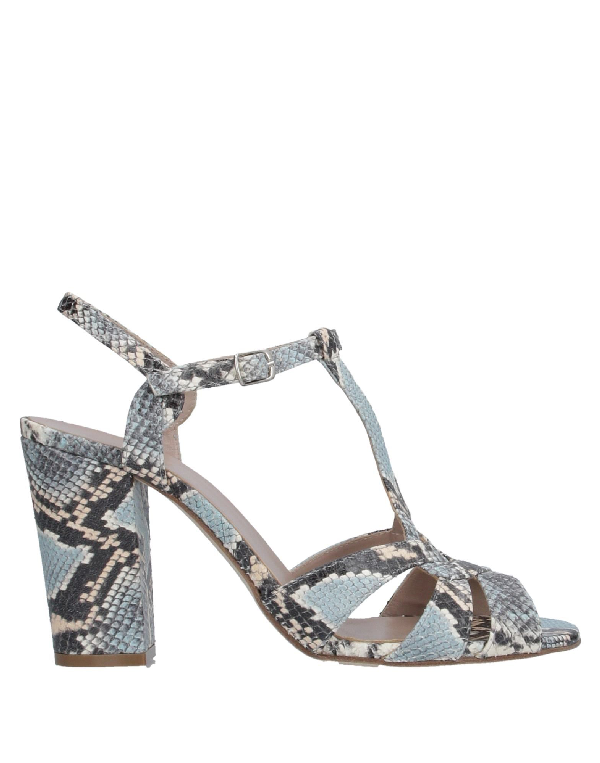 Cheville Sandals In Sky Blue
