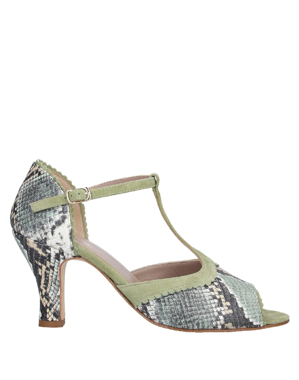Cheville Sandals In Light Green
