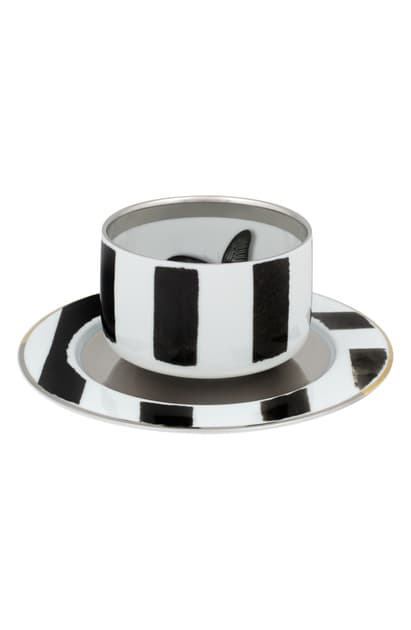 Christian Lacroix Sol Y Sombra Teacup & Saucer In White