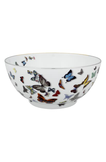 Christian Lacroix Butterfly Parade Salad Bowl In White