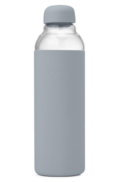 W & P Design Porter Resusable Glass Water Bottle In Slate