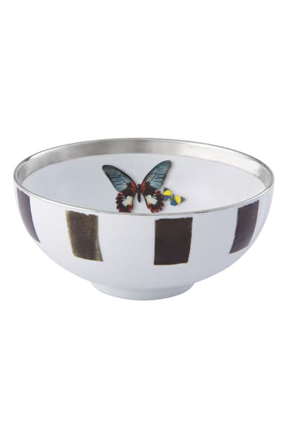 Christian Lacroix Sol Y Sombra Soup Bowl In Black And White