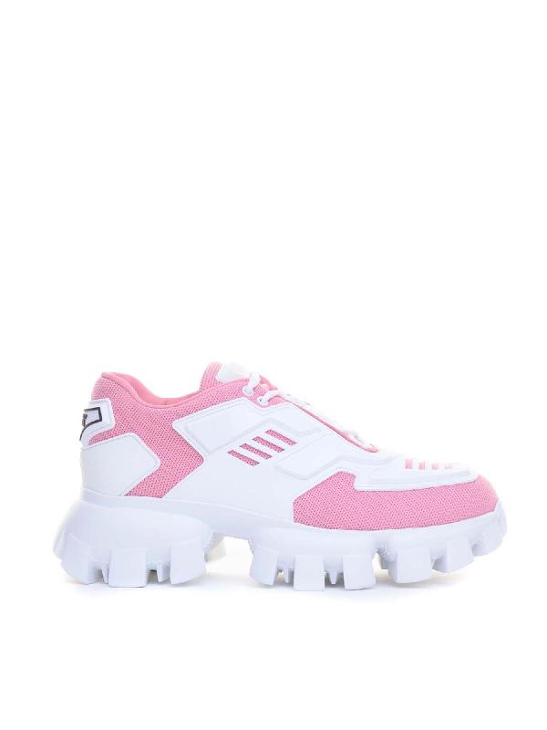 Prada Sneakers Cloudbust Thunder In Maglia E Gomma In F0a3d Petalo+bianco