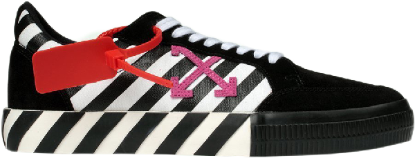 Off-white Arrows Vulc Low Stripe Violet Ss20 (w) In Black