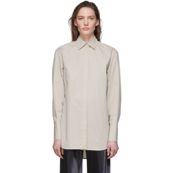 The Row Grey Cody Shirt In Prg Pearl G