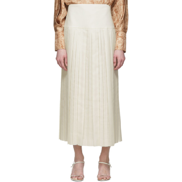 The Row White Magdita Skirt In Ivr Ivory