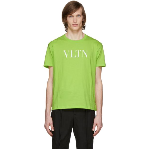 Valentino Vltn Logo T-shirt In Bc5 Giallof