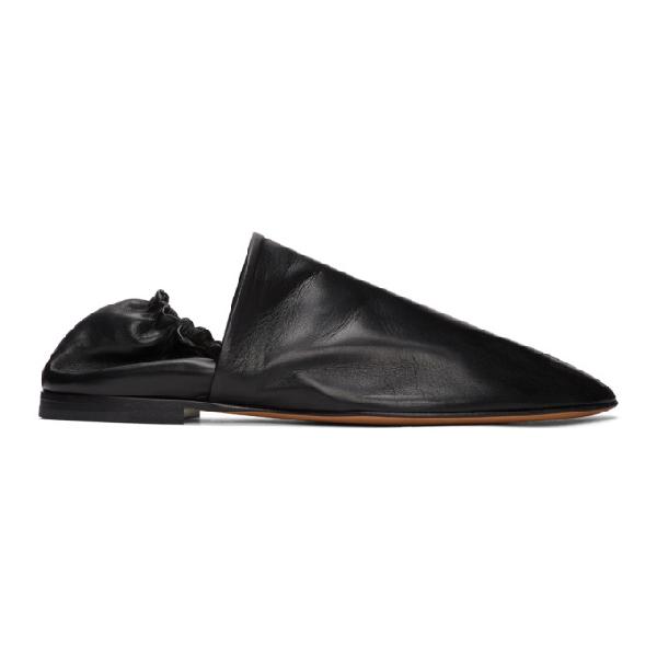 Bottega Veneta 黑色 Paper 皮革乐福鞋 In 1000 Black