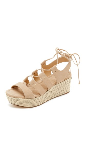 23c5e9874f5 Michael Michael Kors Sofia Lace-Up Mid-Wedge Sandal