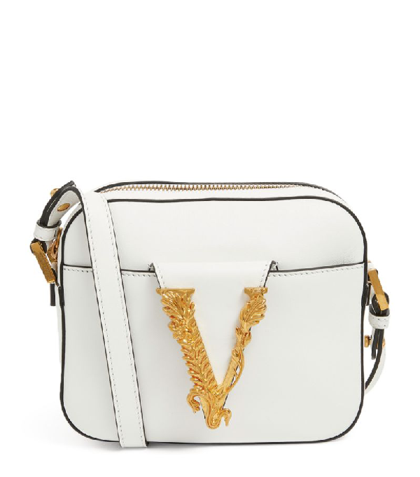 Versace Leather Virtus Camera Bag