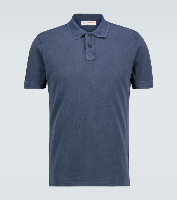 Orlebar Brown Jarret Washed Cotton Polo Shirt In Blue