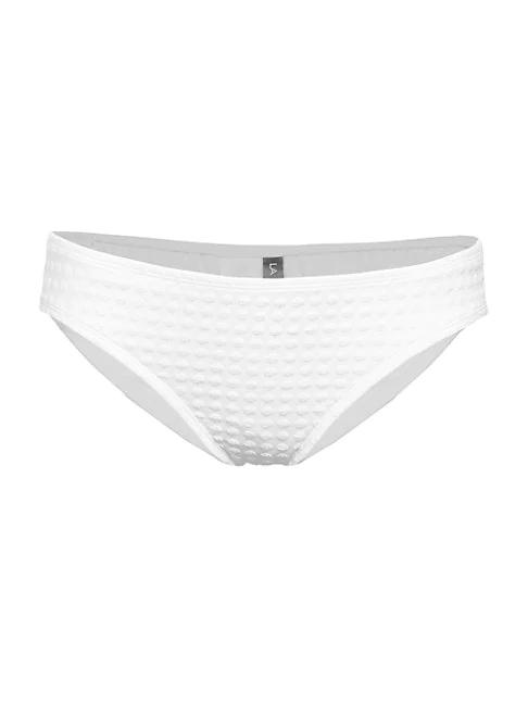 La Blanca Swim Point Hipster Bikini Bottoms In White