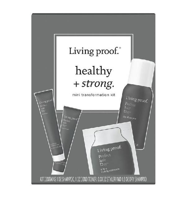 Living Proof Healthy + Strong Mini Transformation Kit In White