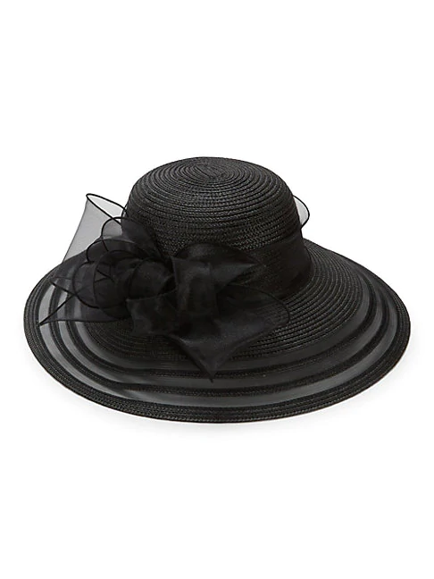 San Diego Hat Company Ribbon-trimmed Dress Hat In White