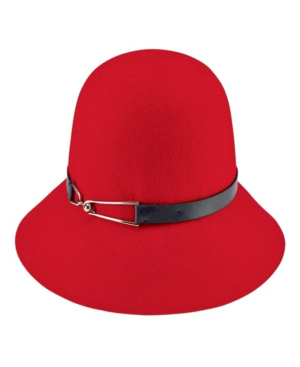 San Diego Hat Company Packable Cloche In Red