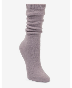 Donna Karan Super Soft Slouch Pointelle Boot Sock In Hazy