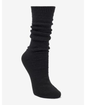 Donna Karan Super Soft Slouch Pointelle Boot Sock In Black