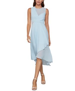 Bcbgmaxazria Asymmetrical Illusion Dress In Powder Blue