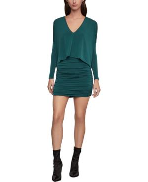 Bcbgmaxazria Long-sleeve Mini Dress In Green